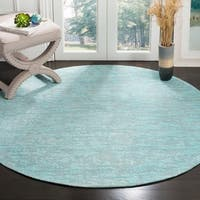 Safavieh Hand-Woven Marbella Blue/ Turquoise Polyester Rug - 6' Round