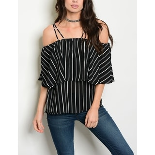 JED Women's Off Shoulder Striped Top