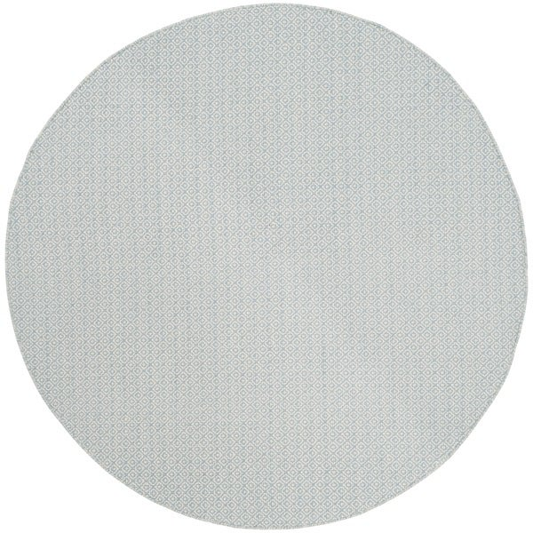 Safavieh Hand-Woven Montauk Ivory/ Light Blue Cotton Rug (6' Round)