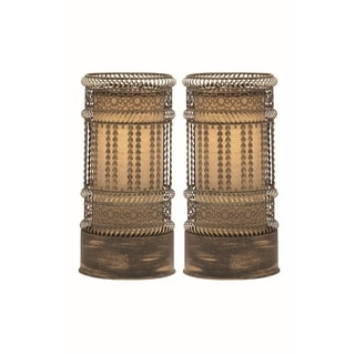 Studio 350 Set of 2, Metal Accent Lamp 17 inches high