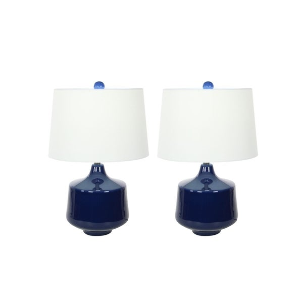 Studio 350 Set of 2, Ceramic Table Lamp 24 inches high