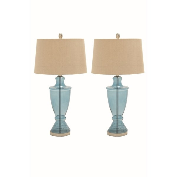 Studio 350 Set of 2, Glass Metal Table Lamp 31 inches high