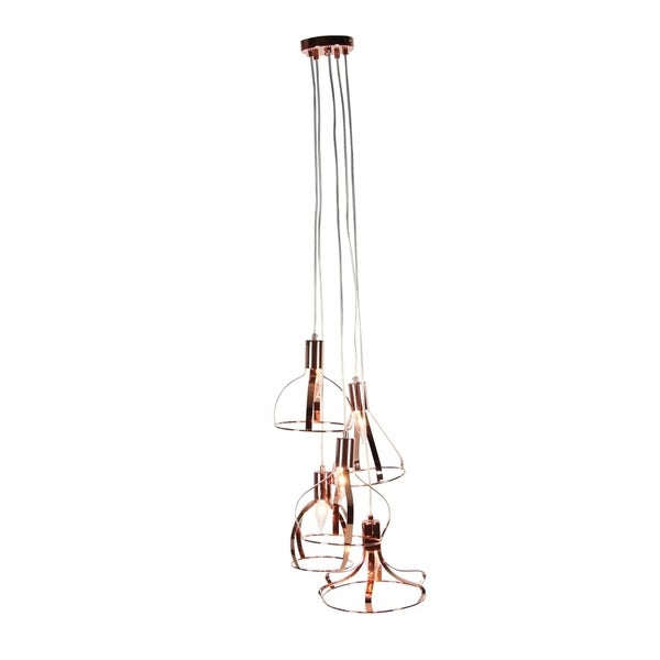 Studio 350 Metal 5L Pendant W Bulb 15 inches wide, 48 inches high