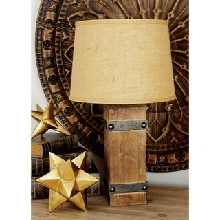 Studio 350 Set of 2, Wood Table Lamp 26 inches high, 14 inches wide