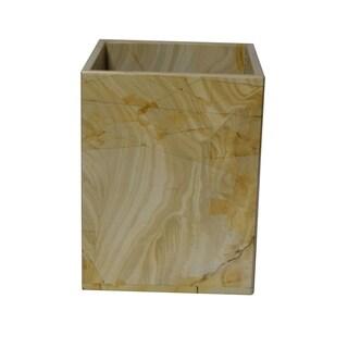 Marble Wastebasket, Teak