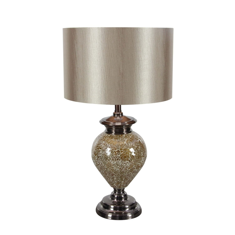 Studio 350 Metal Mosaic Table Lamp 27 inches high, Grey (...