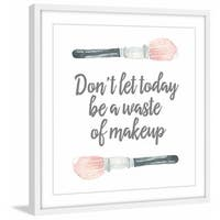 'No Waste of Makeup' Framed Painting Print