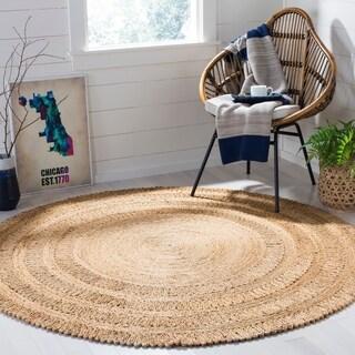 Safavieh Hand-Woven Natural Fiber Natural Jute Rug (5' Round)