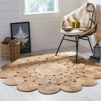 Safavieh Hand-Woven Natural Fiber Country Charm Jute Rug - 6' Round