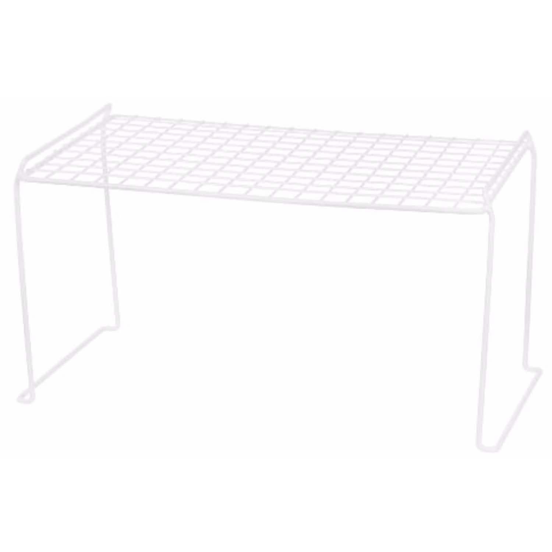 Iris Heavy Duty Wire Stacking Shelf, White (Pack of 1) (M...