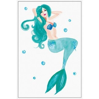 'Mermaid' Floater Framed Painting Print on Canvas (USA)