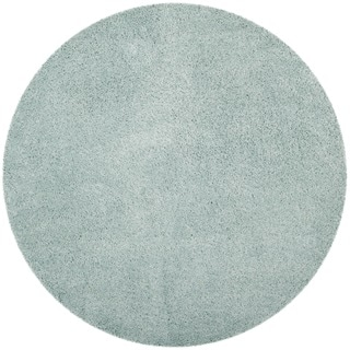 Premium Leather Brown Shag Rug 3 Round Free Shipping