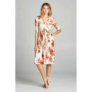 Spicy Mix Libby Floral Wrap Dress With Pleated Hemline