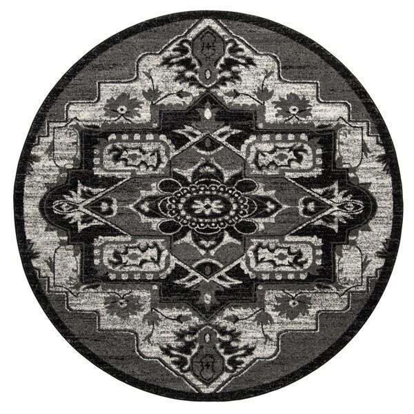 Safavieh Vintage Hamadan Vintage Light Grey/ Grey Rug (6'7 Round)