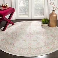Safavieh Windsor Vintage Seafoam/ Purple Cotton Rug - 6' Round