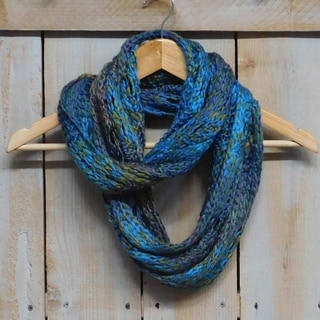 """Tickled Pink Heavyweight Knit Infinity 12 x 70"""" - Turquoise"""