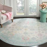 Safavieh Windsor Vintage Seafoam/ Blue Cotton Rug - 6' x 6' Round