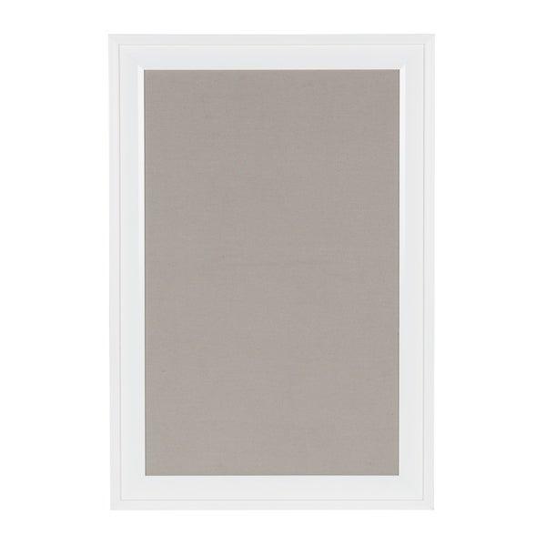 Shop DesignOvation Bosc Framed Gray Linen Fabric Pinboard - On Sale ...