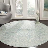 Safavieh Windsor Vintage Seafoam/ Blue Cotton Rug - 6' Round