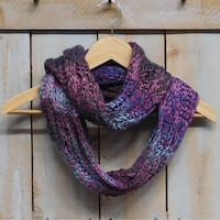 "Tickled Pink Heavyweight Knit Infinity 12 x 70"" - Purple"