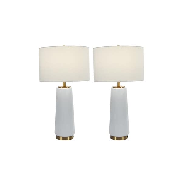 Studio 350 Set of 2, Ceramic Table Lamp 26 inches high