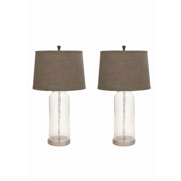Studio 350 Set of 2, Glass Metal Table Lamp 30 inches high