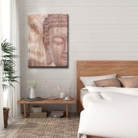 Buddha' Inspirational Canvas Art by Olivia Rose - Brown
