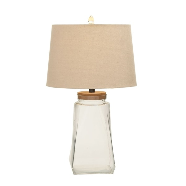 Studio 350 Set of 2, Glass Fillable Table Lamp 26 inches high