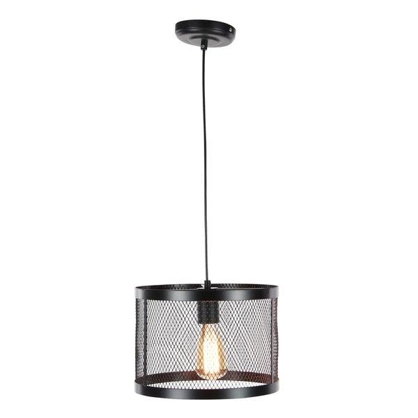 Industrial 7 x 11 Inch Round Pendant with Bulb by Studio 350