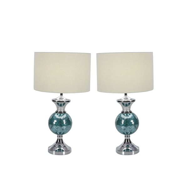 Studio 350 Set of 2, Metal Mosaic Table Lamp 24 inches high