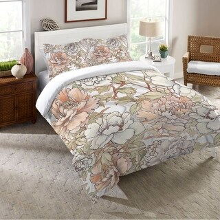 Laural Home Blushing Florals Duvet Cover