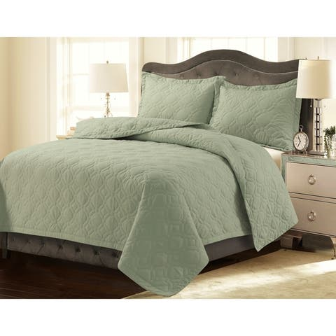 Lyon Solid or Printed Oversized Quilt Set
