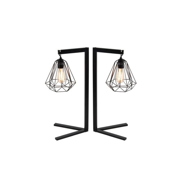 Studio 350 Set of 2, Metal Wire Table Lamp 26 inches high