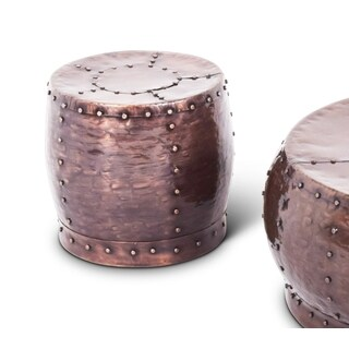 Chatra Antiqued Copper-finished Iron Round End Table by Greyson Living