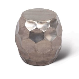Sirsi Nickel-finished Round End Table by Greyson Living