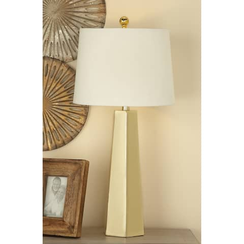 Studio 350 Set of 2, Metal Table Lamp Gold 30 inches high