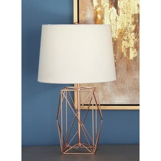 Buy white table lamps online at overstock our best lighting deals studio 350 metal copper wire table lamp 21 inches high greentooth Images
