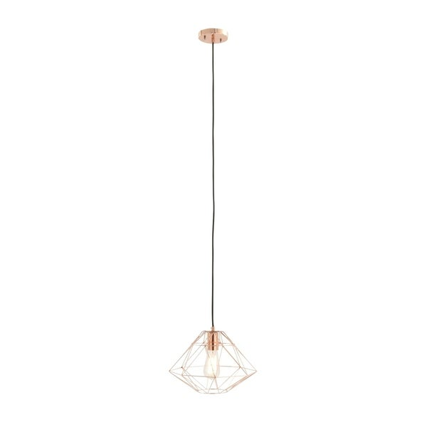 Contemporary 90 Inch Geometric Dome Pendant with Bulb by Studio 350