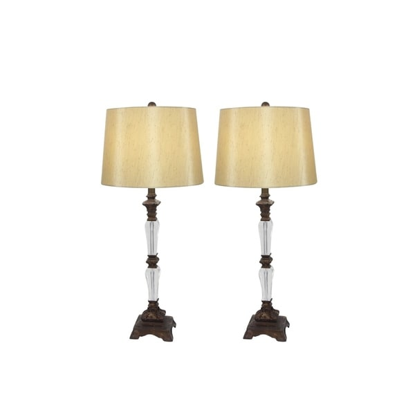 Studio 350 Set of 2, PS Acrylic Table Lamp 33 inches high