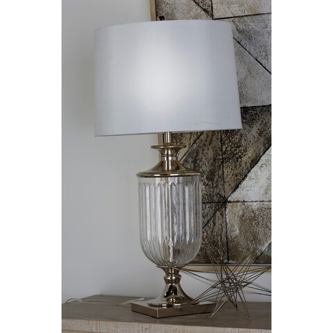 Studio 350 Set of 2, Glass Metal Table Lamp 34 inches high