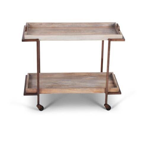 Chapra Tray Top Serving Cart by Greyson Living