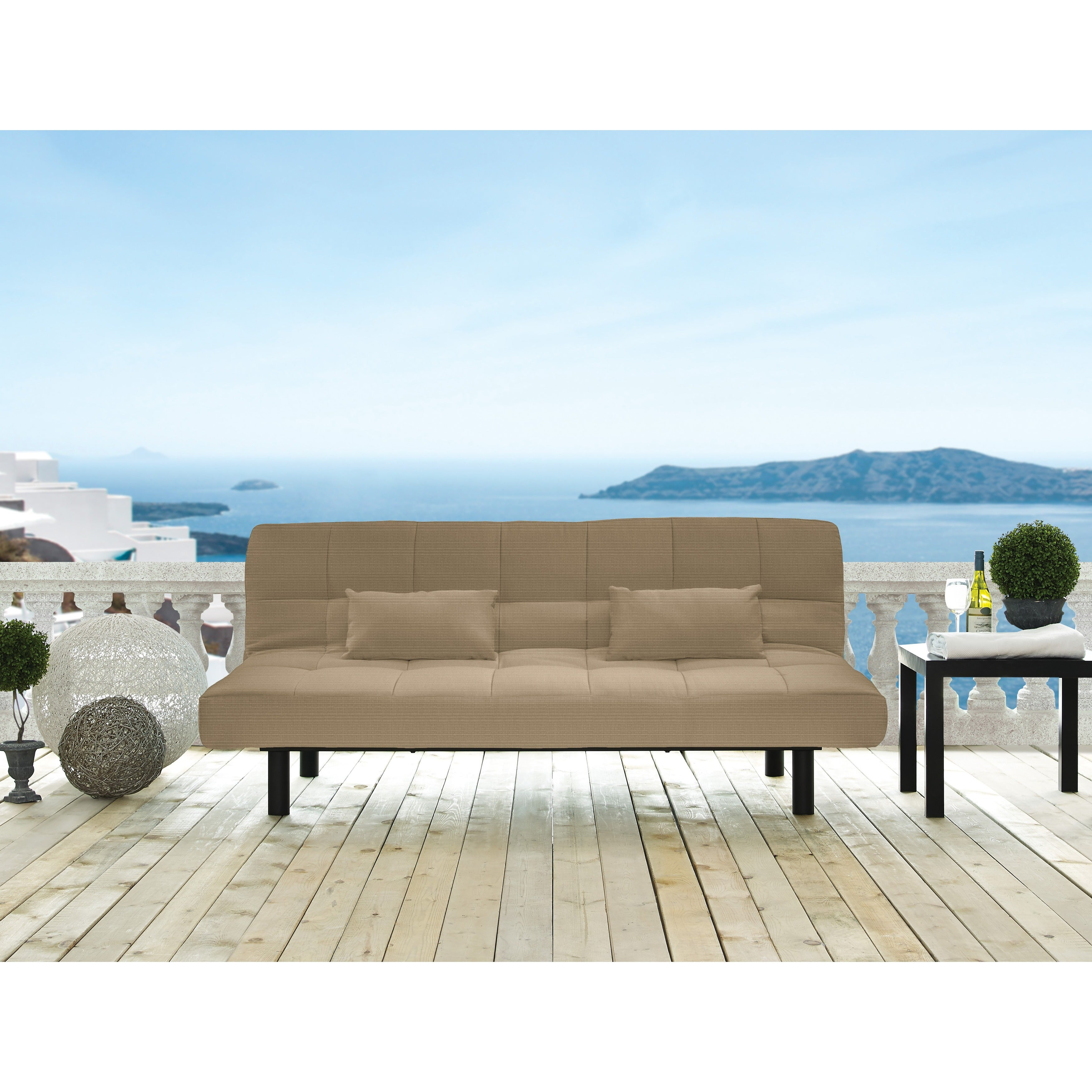 Serta Santa Cruz Brown Pool and Deck Convertible Sofa by ...