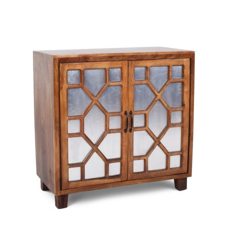 Sinnar Golden Pine Wood Accent Cabinet by Greyson Living