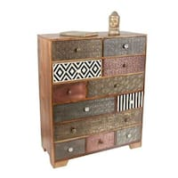 Hartford Multi-drawer Mango Wood/Iron/Bone Sideboard  by Greyson Living