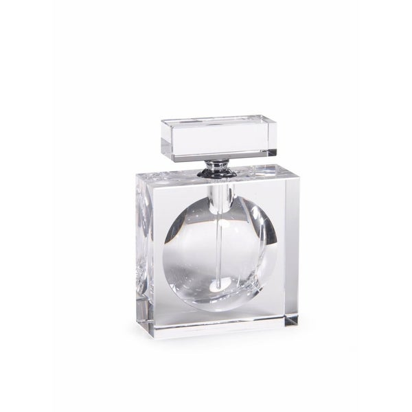 """Amari"" 6"" Tall Glass Perfume Bottle, Square Shaped"