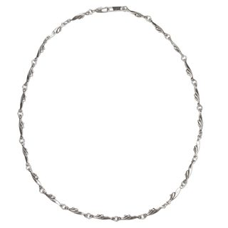 Handmade Sterling Silver 'Petite Garland' Necklace (Mexico)