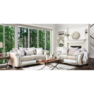 living room couch set. Furniture of America Linwood Classic Contemporary 2 piece Two Tone Sofa Set Living Room Sets For Less  Overstock com