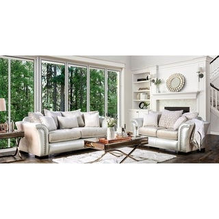 Furniture Of America Linwood Classic Contemporary 2 Piece Two Tone Sofa Set Part 61
