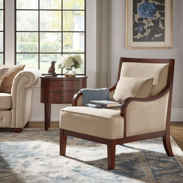 Brenda Espresso Wood Transitional Accent Chair By INSPIRE Q Classic