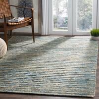 Safavieh Hand-Woven Organic Bohemian Blue/ Natural Jute Rug - 4' x 6'